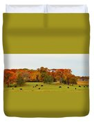 Autumn Minnesota Black Angus Cattle Duvet Cover
