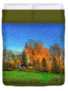 Autumn Moon Rising Duvet Cover