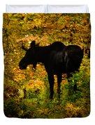 Autumn Moose Duvet Cover