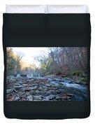 Autumn Morning Along The Wissahickon Creek Duvet Cover