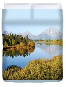 Autumn Morning At Oxbow Bend Duvet Cover