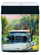 Autumn Morning Mist 2 Duvet Cover