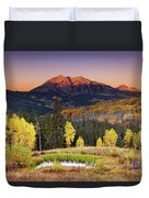 Autumn Mountain Landscape, Colorado, Usa Duvet Cover