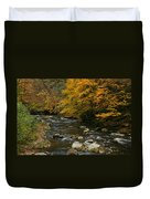 Autumn Mountain Stream Duvet Cover