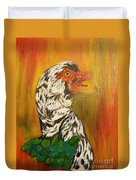 Autumn Muscovy Portrait Duvet Cover