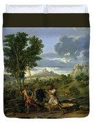 Autumn Duvet Cover by Nicolas Poussin