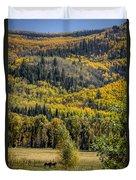Autumn On A Colorado Range Duvet Cover