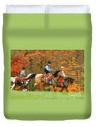 Autumn On Horseback Duvet Cover