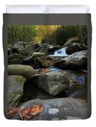 Autumn On Little River In The Smoky Mountains Duvet Cover