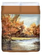 Autumn On The Buffalo Duvet Cover