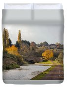 Autumn On The Canal Duvet Cover