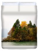 Autumn On The Columbia Duvet Cover