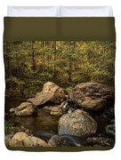 Autumn On The Creek  Duvet Cover