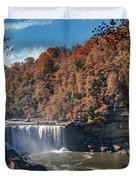 Autumn On The Cumberland  Cumberland Falls Duvet Cover