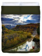 Autumn On The Genesee Duvet Cover