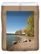 Autumn On The Water Duvet Cover