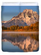 Autumn Oxbow Bend Reflections Duvet Cover
