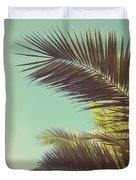 Autumn Palms Duvet Cover