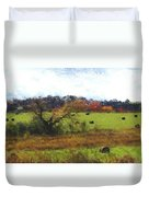 Autumn Pasture Duvet Cover