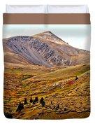 Autumn Peaks In The Rockies Duvet Cover