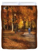 Autumn - People - A Walk In The Park Duvet Cover