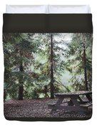 Autumn Picnic In The Woods  Duvet Cover