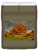 Autumn Picnic On The Hill Duvet Cover