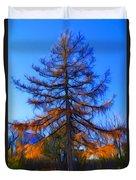 Autumn Pine Tree Duvet Cover