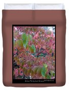 Autumn Pink Poster Duvet Cover