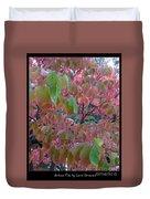 Autumn Pink Poster Duvet Cover