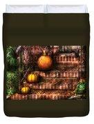 Autumn - Pumpkin - Three Pumpkins Duvet Cover