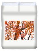Autumn Red Leaves On A Tree   Duvet Cover
