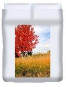 Autumn Red Maple Duvet Cover