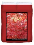 Autumn Red Poster Duvet Cover
