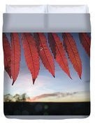 Autumn Red Sumac Leaves Duvet Cover