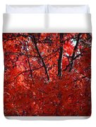 Autumn Red Trees 2015 Duvet Cover