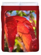 Autumn Reds Duvet Cover