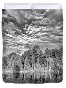 Autumn Reflection 2 Bw Duvet Cover