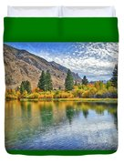 Autumn Reflections At Intake Lake II Duvet Cover
