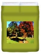 Autumn Refraction Duvet Cover