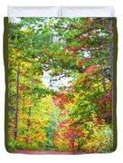 Autumn Road - Digital Paint Duvet Cover