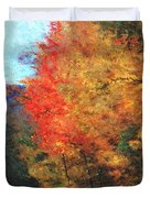 Autumn Roadside Duvet Cover