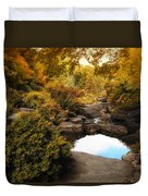 Autumn Rock Garden Duvet Cover