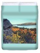 Autumn Rocks Booth's Rock Lookout Duvet Cover