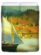 Autumn Sail Duvet Cover by Steve Henderson