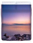 Sunrise At Sibbald Point Duvet Cover
