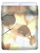 Autumn Season Leaves On A Tree In Sun Light Duvet Cover