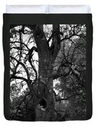 Autumn Spook In Black And White Duvet Cover