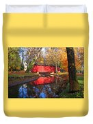 Autumn Sunrise Bridge II Duvet Cover