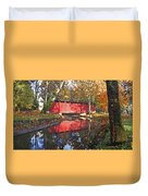 Autumn Sunrise Bridge Duvet Cover